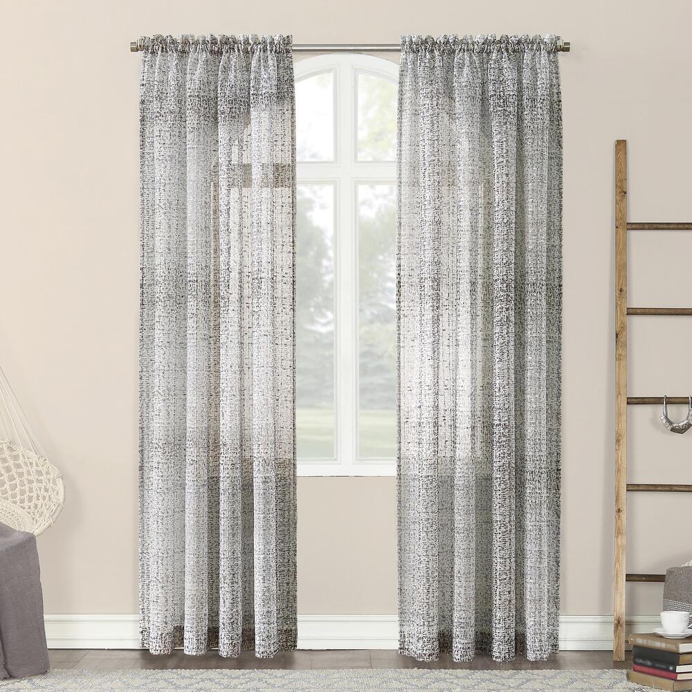 No 918 Lewis 52 W X 84 L Light Filtering Rod Pocket Curtain Panel At Menards