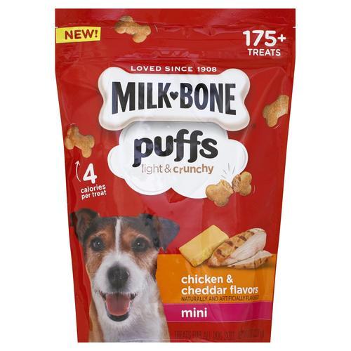 Milk-Bone® Puffs Chicken & Cheddar Flavors Mini Dog Treats - 8 oz