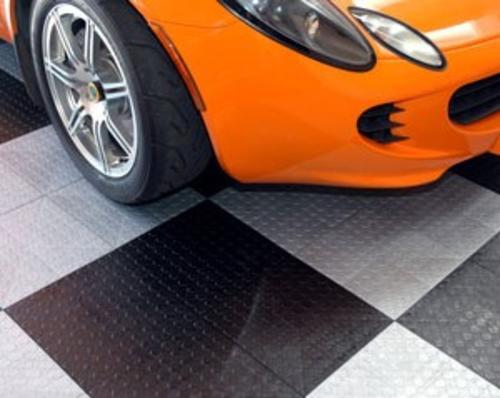 Coin Top Modular Garage Floor Tile