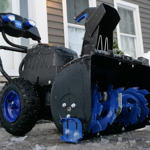 "Menards Snow Blowers >> Snow Joe® 24"" 80-Volt 5Ah Two Stage Cordless Snow Blower at Menards®"