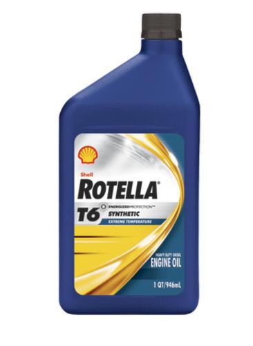 Shell Rotella® T6 Full Synthetic 5W-40 Motor Oil at Menards®