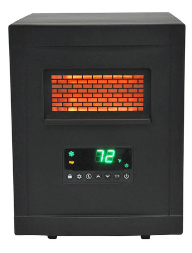 lifesmart pro watt 4 element infrared portable heater with remote at menards