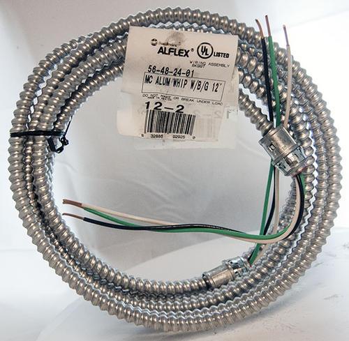 10 2 Mc Cable Menards 12 2 Copper Black White Green Mc