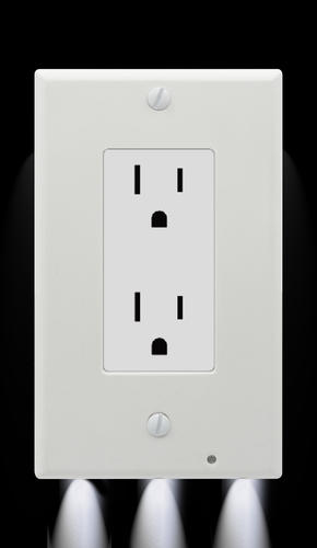 Led night light switch outlet cover plate
