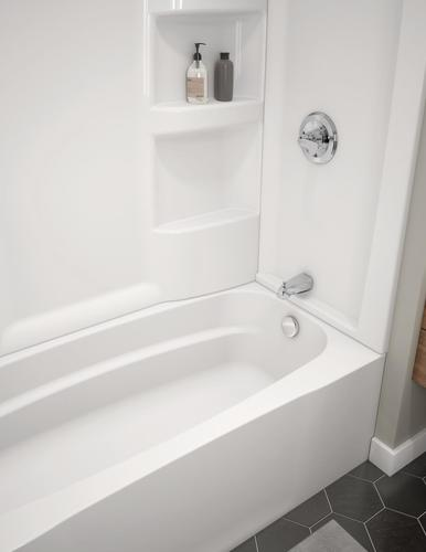 "delta® hycroft™ 60"" x 30"" white bathtub with right drain at menards®"
