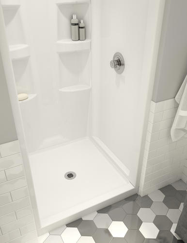 Shower Base And Walls Kit.Delta Hycroft 36 X 36 4 Piece Procrylic White Shower