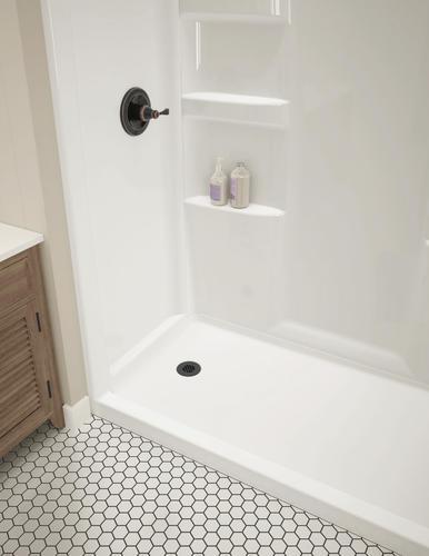 Shower Base And Walls Kit.Delta Hycroft 60 X 30 4 Piece Procrylic White Shower
