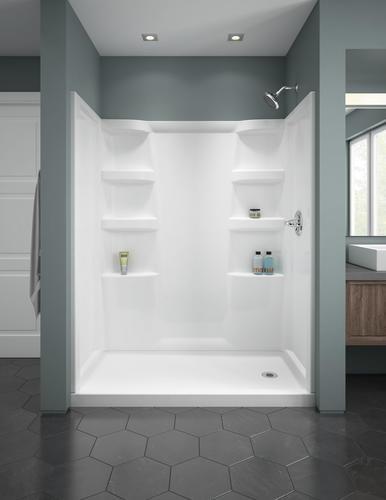 Delta Hycroft 60 X 32 4 Piece Procrylic White Shower