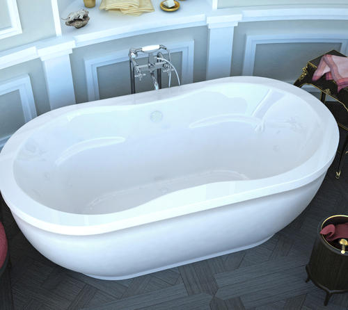 "bonnie 34"" x 71"" freestanding air jetted bathtub at menards®"