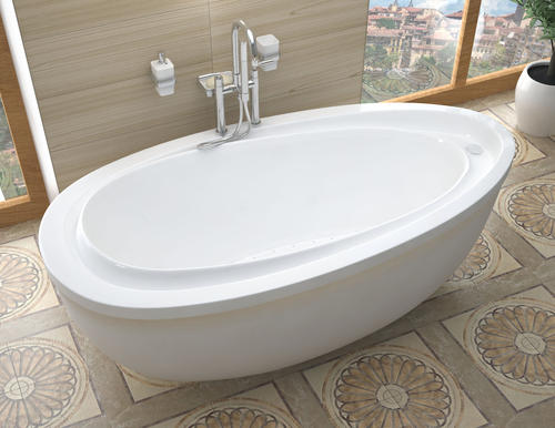 "stream 38"" x 71"" freestanding air jetted bathtub at menards®"