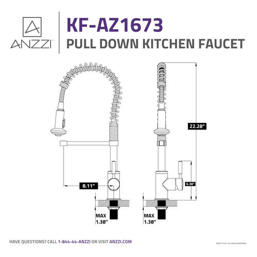 ANZZI Eclipse One-Handle Pull-Down Polished Chrome Kitchen