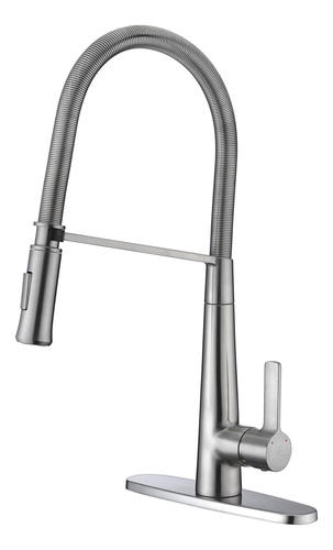 ANZZI Apollo One-Handle Pull-Down Brushed Nickel Kitchen ...