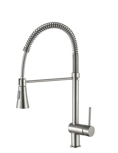 ANZZI Carriage One-Handle Brushed Nickel Kitchen Faucet at ...