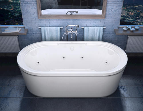 "grande 34"" x 67"" freestanding whirlpool jetted bathtub at menards®"