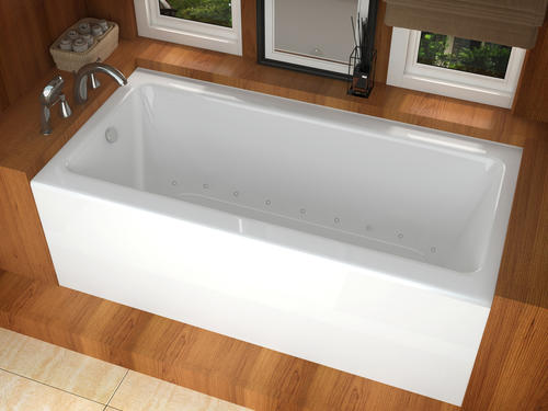 "trails 30"" x 60"" rectangular air jetted bathtub at menards®"