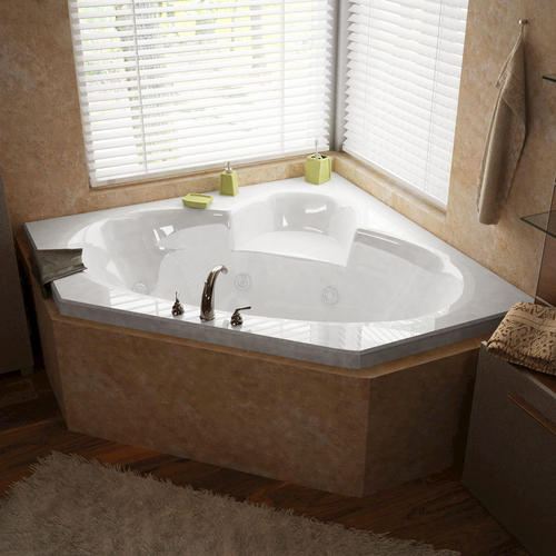 "libra 60"" x 60"" corner whirlpool jetted bathtub at menards®"