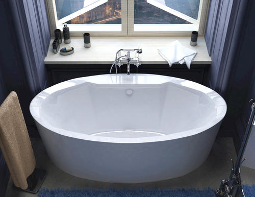 "rio 34"" x 68"" freestanding air jetted bathtub at menards®"