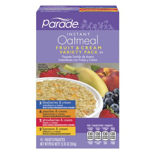 Parade® Fruit & Cream Instant Oatmeal Variety Pack - 10 Pack