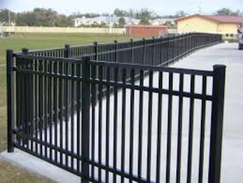 6 X 6 Aluminum Fence Section 4 Rail At Menards 174