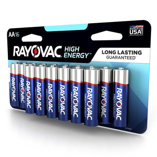 Rayovac® High Energy™ AA Alkaline Batteries - 16 pack at