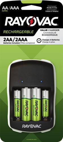 Rayovac Rechargeable 4 Position Aa Aaa Charger W Batteries At Menards