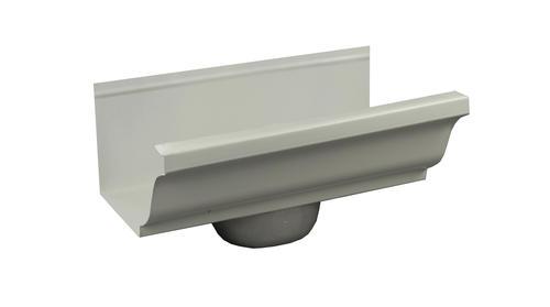 Spectra Metals 6 Aluminum Gutter Drop For 4 Downspout At Menards
