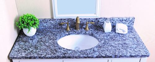 Tuscany 174 49 Quot W X 22 Quot D Granite Vanity Top With Oval Bowl At Menards 174