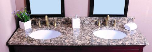 Tuscany 174 61 Quot W X 22 Quot D Giallo Fiorito Granite Vanity Top With Oval Bowl At Menards 174
