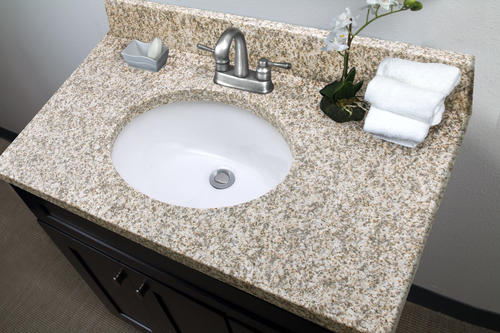 Tuscany 174 37 Quot W X 22 Quot D Granite Vanity Top With Oval Bowl At Menards 174