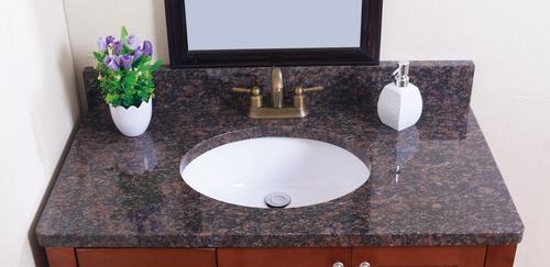 Granite Bathroom Vanity Tops | Tuscany 31 W X 22 D Granite Vanity Top With Oval Bowl At