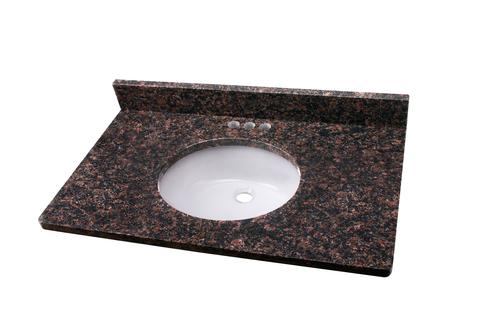 Tuscany 37 W X 22 D Granite Vanity Top With Oval Undermount Bowl At Menards
