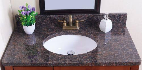Tuscany 174 37 Quot W X 22 Quot D Granite Vanity Top With Oval Bowl At