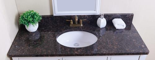 Tuscany 49 W X 22 D Granite Vanity Top With Oval Bowl At Menards