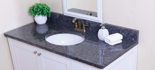 Tuscany 49 W X 22 D Blue Pearl Granite Vanity Top With Oval