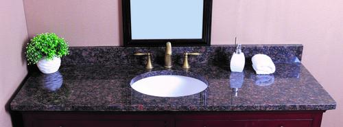 Tuscany 174 61 Quot W X 22 Quot D Granite Vanity Top With Oval Bowl At Menards 174