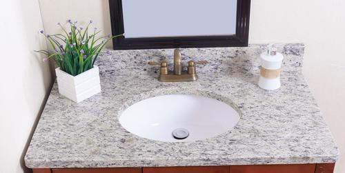 Tuscany 31 W X 22 D Granite Vanity Top With Oval Bowl At Menards