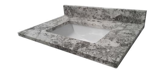 Tuscany 174 31 Quot W X 22 Quot D Granite Vanity Top With Rectangular