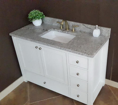 """Tuscany® 49""""W X 22""""D Granite Vanity Top With Rectangular Bowl At Menards®"""