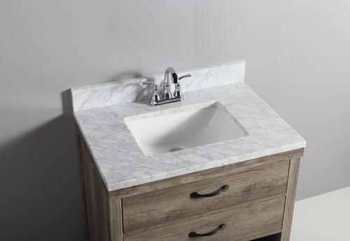 Tuscany 174 31 Quot X 22 Quot Carrara Marble Vanity Top With Wave Bowl At Menards 174