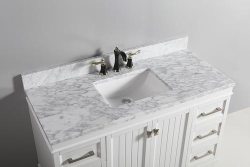 Tremendous Tuscany 37 X 22 Carrara Marble Vanity Top With Wave Bowl Interior Design Ideas Tzicisoteloinfo