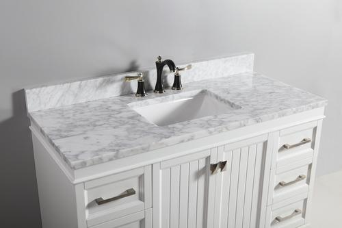 Tuscany 174 49 Quot X 22 Quot Carrara Marble Vanity Top With Wave Bowl At Menards 174