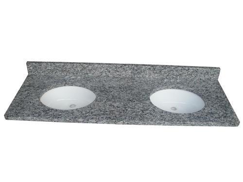 Tuscany 61 W X 22 D Granite Vanity Top With Rectangular Undermount Bowls At Menards