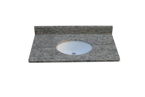 Tuscany 25 W X 22 D Granite Vanity Top With Oval Undermount Bowl At Menards