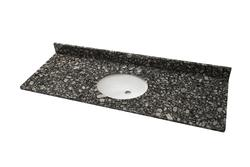 Tuscany 61 W X 22 D Ice Diamond Granite Vanity Top With Oval