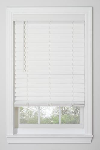 Window Images 2 1 2 Room Darkening Cordless Faux Wood Blind 72 Length At Menards