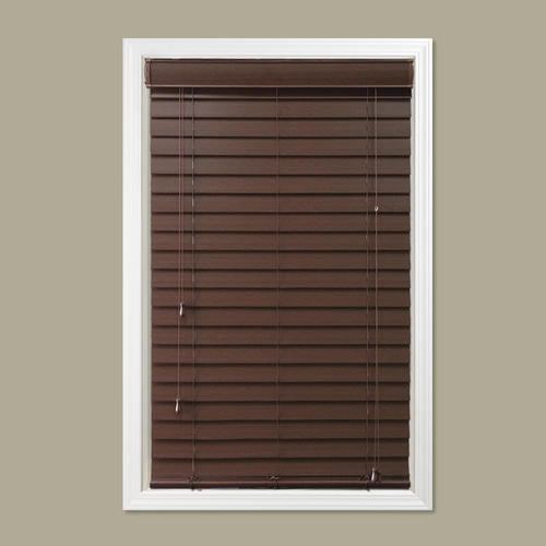 Window Images 2 Room Darkening Faux Wood Blind 48 Length At Menards