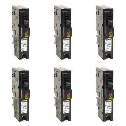 New Square D HOM115 15 Amp Circuit Breaker Brand Homeline