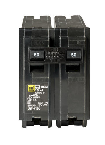 Square D™ Homeline™ 2-Pole Residential Circuit Breaker at ... on wiring 30 amp breaker, wiring main breaker panel, wiring 100 amp breaker, wiring gfci circuit breaker,