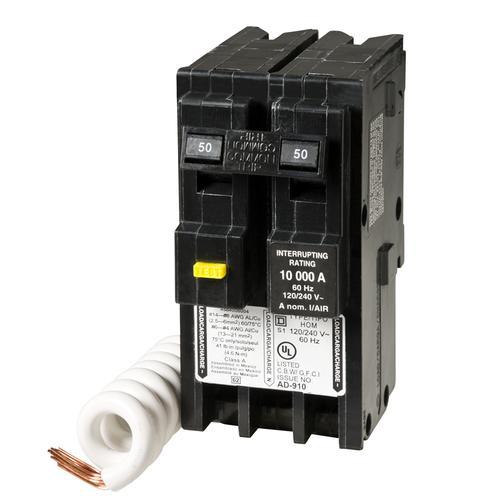 Square D Homeline 50 Amp 2 Pole Gfci Circuit Breaker At Menards