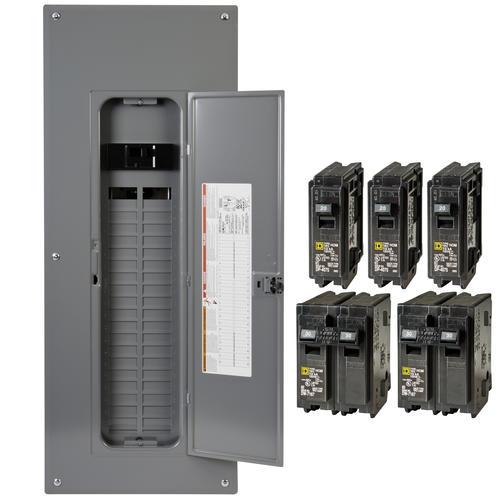 Square D Homeline 200 Amp 40 Space 80 Curcuit Indoor Main Breaker Load Center Value Pack At Menards